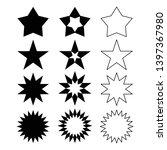 star shape symbol icon set... | Shutterstock .eps vector #1397367980
