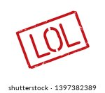 red grunge stamp and comic text ... | Shutterstock . vector #1397382389