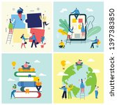 vector concept of education... | Shutterstock .eps vector #1397383850