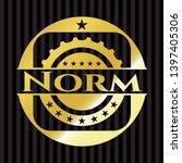 norm golden badge. vector... | Shutterstock .eps vector #1397405306