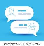 vector lined modern style... | Shutterstock .eps vector #1397406989