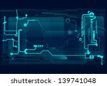abstract tech background | Shutterstock .eps vector #139741048