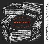 vintage vector meat... | Shutterstock .eps vector #1397417159
