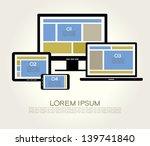 a modern set of infographics... | Shutterstock .eps vector #139741840