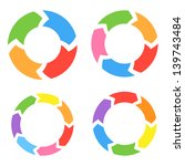 color circle arrows set. raster ... | Shutterstock . vector #139743484