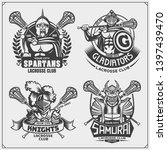 lacrosse club emblems with... | Shutterstock .eps vector #1397439470
