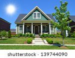 new suburban dream home on a... | Shutterstock . vector #139744090