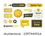 quick tips shapes. helpful... | Shutterstock . vector #1397444516