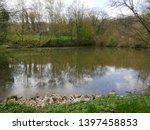 pond near wuppertal germany ... | Shutterstock . vector #1397458853