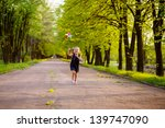 happy child playing in a spring ... | Shutterstock . vector #139747090