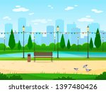 city park. garden public nature ... | Shutterstock . vector #1397480426