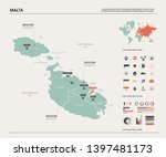 vector map of malta. country...   Shutterstock .eps vector #1397481173