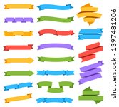 ribbons set. blank colorful...   Shutterstock . vector #1397481206