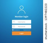 login form. website ui account...