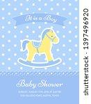 baby shower card. vector. baby...   Shutterstock .eps vector #1397496920