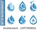 water drop logo. water droplet... | Shutterstock .eps vector #1397500826