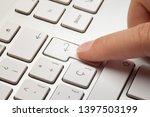 fingertip on enter... | Shutterstock . vector #1397503199