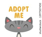 adopt me cat vector isolated... | Shutterstock .eps vector #1397507450