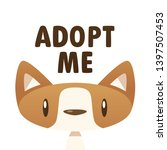 adopt me dog vector isolated... | Shutterstock .eps vector #1397507453