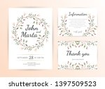 floral wedding invitation.... | Shutterstock .eps vector #1397509523