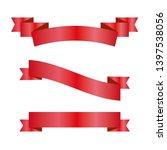 red ribbons set. vector design... | Shutterstock .eps vector #1397538056