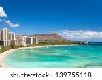 beautiful waikiki beach in... | Shutterstock . vector #139755118