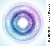 geometric frame from circles ... | Shutterstock .eps vector #1397552303