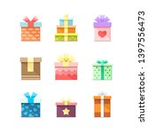 9 colorful vector flat boxes... | Shutterstock .eps vector #1397556473