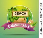 summer sale  round discount... | Shutterstock .eps vector #1397558183