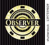 observer shiny badge. vector... | Shutterstock .eps vector #1397559839
