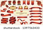 red ribbon and label set | Shutterstock .eps vector #1397563433