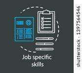 job specific skills chalk... | Shutterstock .eps vector #1397564546
