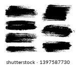 brush strokes. vector... | Shutterstock .eps vector #1397587730