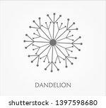 dandelion flower symbol. vector ... | Shutterstock .eps vector #1397598680