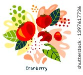 fresh cranberry berry berries...   Shutterstock .eps vector #1397617736