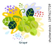 fresh grape berry berries...   Shutterstock .eps vector #1397617739