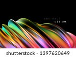color flow abstract shape... | Shutterstock .eps vector #1397620649