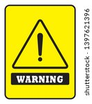 warning icon and board drawing... | Shutterstock .eps vector #1397621396