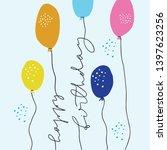 happy birthday flat vector... | Shutterstock .eps vector #1397623256