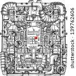 print on steampunk | Shutterstock .eps vector #139762606