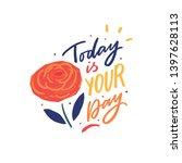 modern typography phrase today... | Shutterstock .eps vector #1397628113
