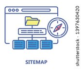 sitemap color line icon. high...