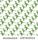 tyrannosaurus seamless pattern. ... | Shutterstock .eps vector #1397633513