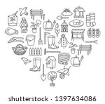 garden icon tool set in thin... | Shutterstock .eps vector #1397634086