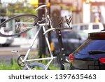 the image of car bike rack - stock photo
