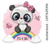 greeting card cute cartoon... | Shutterstock .eps vector #1397639396