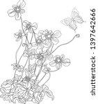 vector branches and garden.... | Shutterstock .eps vector #1397642666