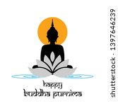 illustration of buddha purnima ... | Shutterstock .eps vector #1397646239