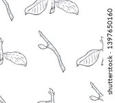 seamless pattern branch with... | Shutterstock .eps vector #1397650160