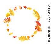 oak  maple  wild ash rowan... | Shutterstock .eps vector #1397658599